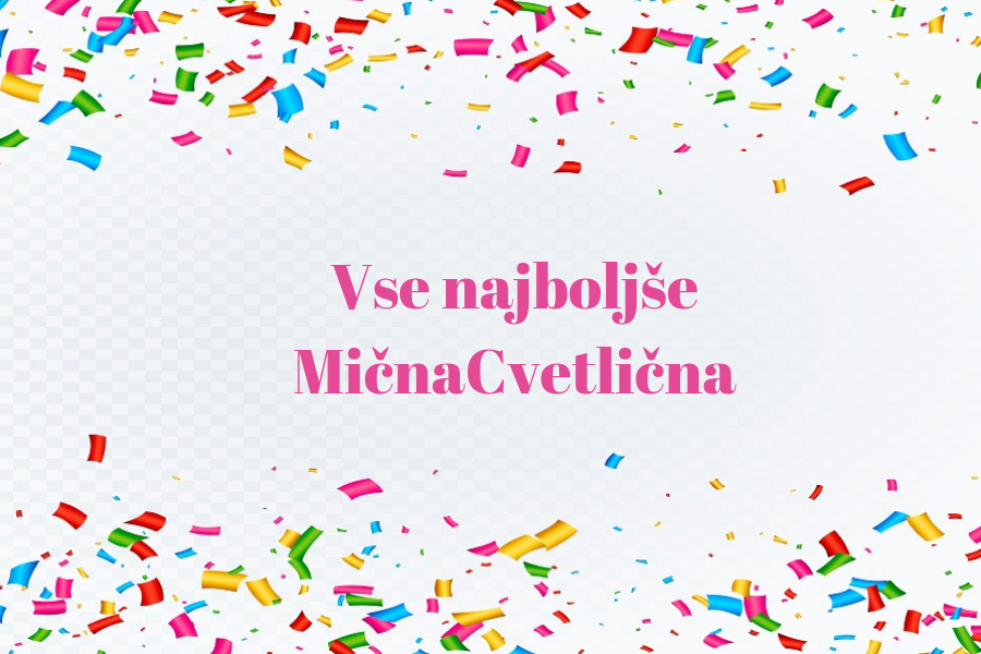 MičnaCvetlična - rojstni dan